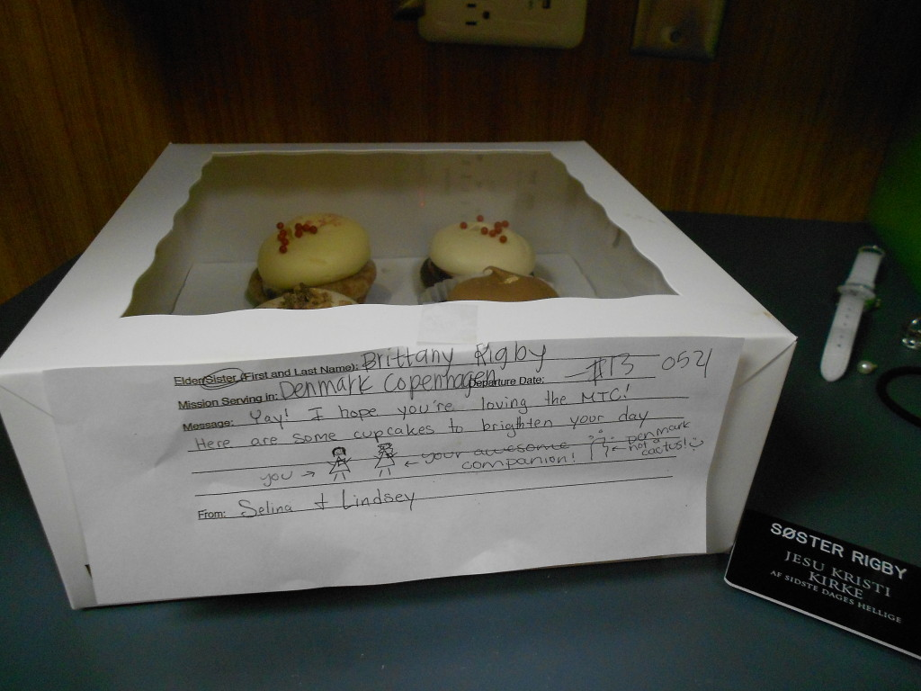 Lindsey and Selina sent me cupcakes!!! LOVE THEM!!!!!!! THANK YOU!!!!!