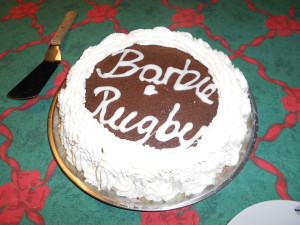 Our last dinner with the Køsters before Søster Bartholomew left and they made us her FAVORITE! Flæskstig, brun kartofler, rød kød, and lagekage. SO YUMMY! This is the lagekage with our RIGHT names on it. Søster Barbie and Søster Rugby. SO great! I love these guys with my whole heart!! They are so incredible!!!
