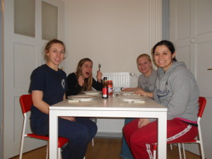 our first dinner together in the brand new apartment