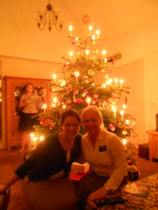 us in front of the tree